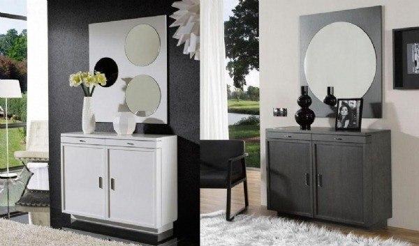 Un recibidor en negro o blanco o un armario zapatero? Combinado con