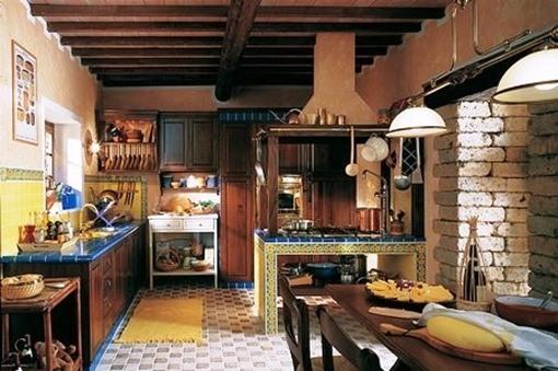 Decoraci n de interiores cocinas de campo for Casas de campo decoracion interior