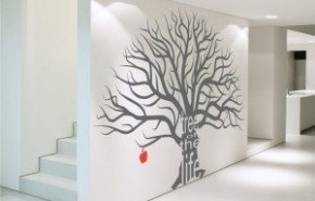 Vinilos decorativos en la pared