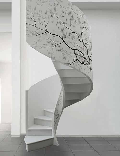 Escaleras modernas for Spiral staircase options