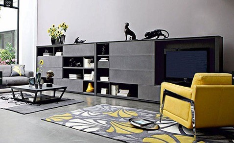 living-room-yellow-accents-by-Roche-Bobois