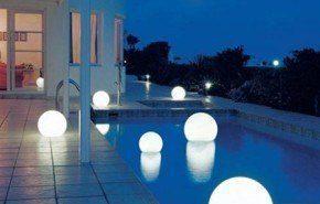 Iluminacion exterior| luces que flotan