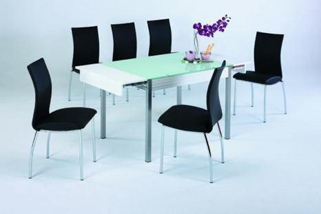 Mesa y sillas de cocina modernas for Sillas blancas conforama