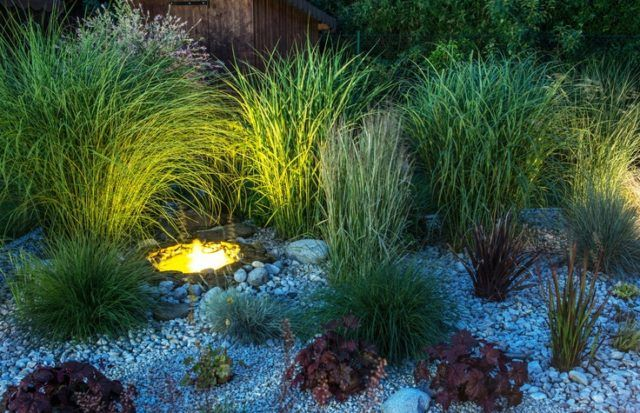 Ideas para la decoracion con piedras rocalla iluminacion