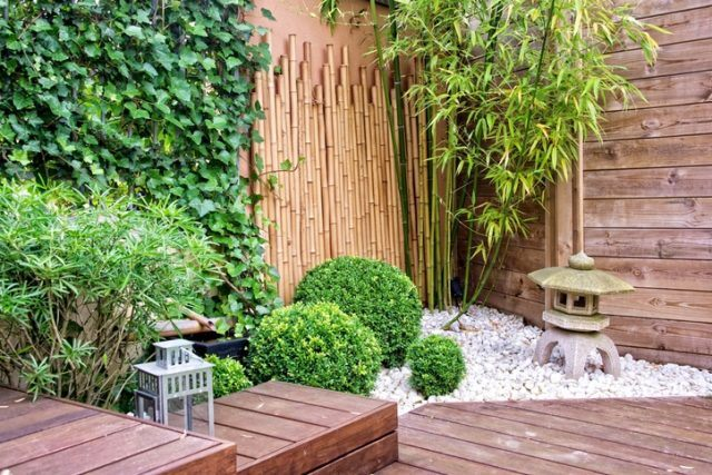 Ideas para la decoracion con piedras rocalla tipo japones