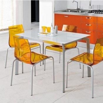 Mesa y sillas de cocina modernas for Sillas transparentes baratas