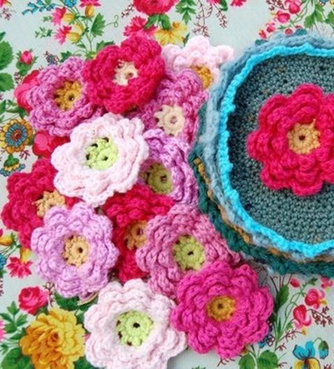 Ganchillo Pattern : Flores ganchillo como se hacen - EspacioHogar.com