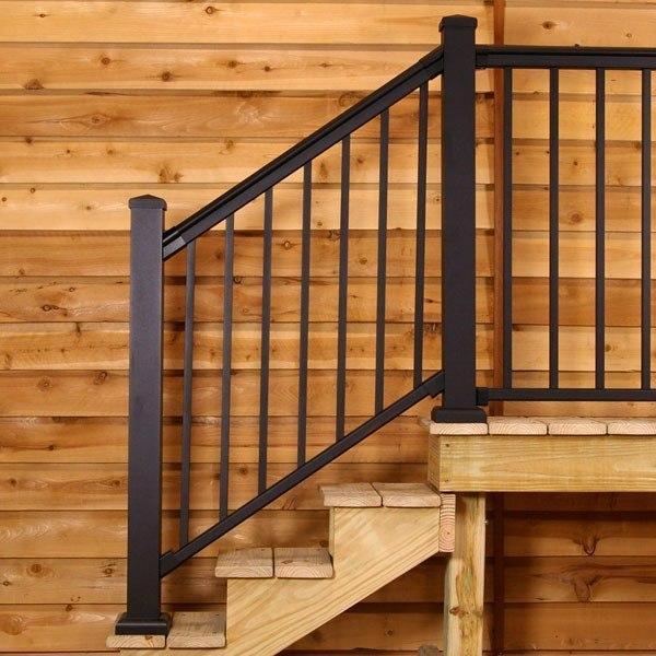 Barandillas escaleras - Barandilla de madera exterior ...
