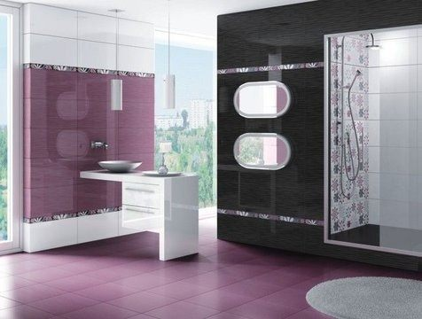 Ba os colores for Purple and yellow bathroom ideas