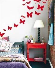 Butterfly-Flowers-Motif-Bed