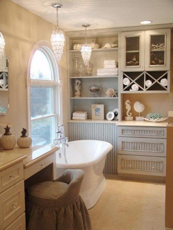 Baños Estilo Country:Aunque los muebles con lavabo son más prácticos, los lavabos de pie