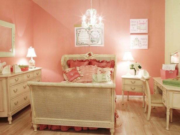 una princesa de cuento cualquier nia se sentira as en esta habitacin en rosa y marfil cama de rejilla en muebles estilo francs