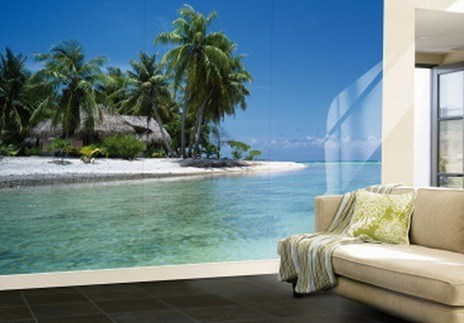 Green-Beach-Wall-Murals