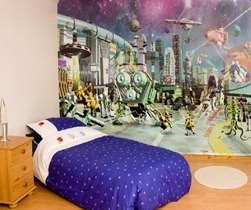 Minimalist-Kids-Wall-Murals-Bedroom