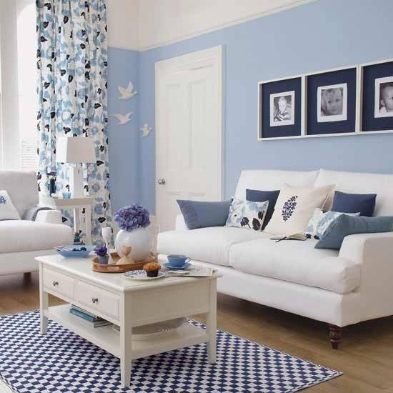 living room ideas in blue colores para salas de estar espaciohogar 23601