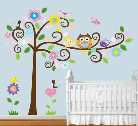 Spiral-Branch-Tree-with-Cute-Owls-Pattern-Birds-Vinyl-Wall-Art-Decal-Nursery