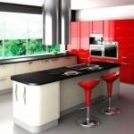 cocinas-integrales-pequenas-modelo-rojo-negro