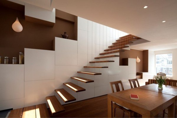 Escaleras modernas for Panel perforado madera