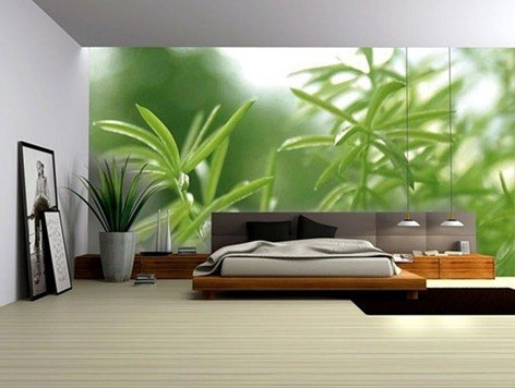 green-wall-decoration-for-interior-bedroom