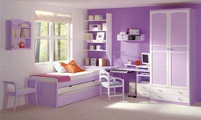 Habitacion infantil color morado - Habitacion nina 2 anos ...