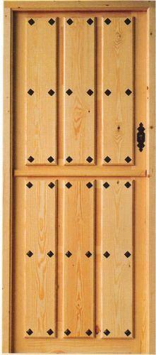 Estilo castellano for Puertas de madera maciza exterior