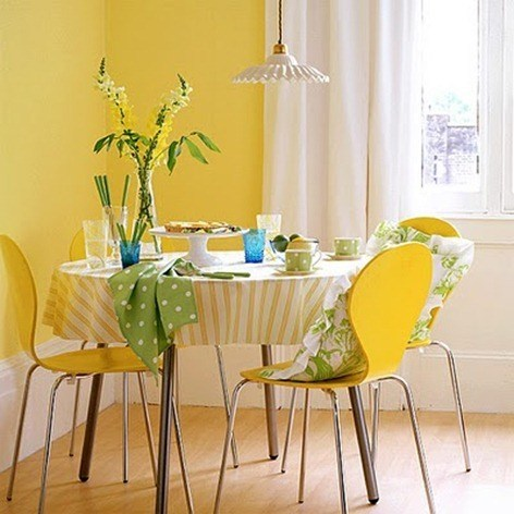 yellow-retro-simple-green-white-beautiful-sunny-dining-room