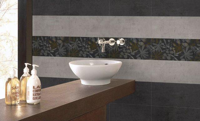 Azulejos Baño Grises:Hay azulejos del mismo tamaño y forma que puedes usar en distintos