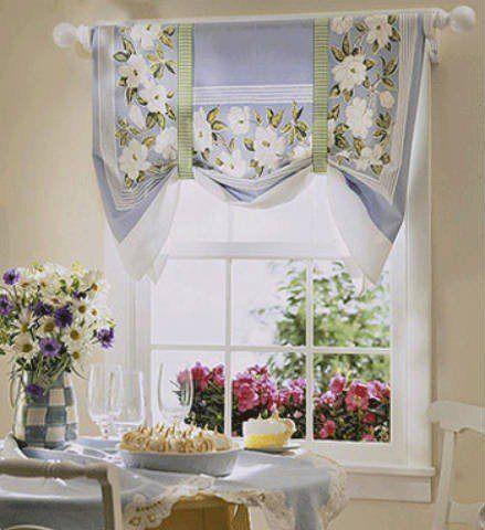 De 100 fotos de cortinas de cocina modernas - Formas de cortinas ...