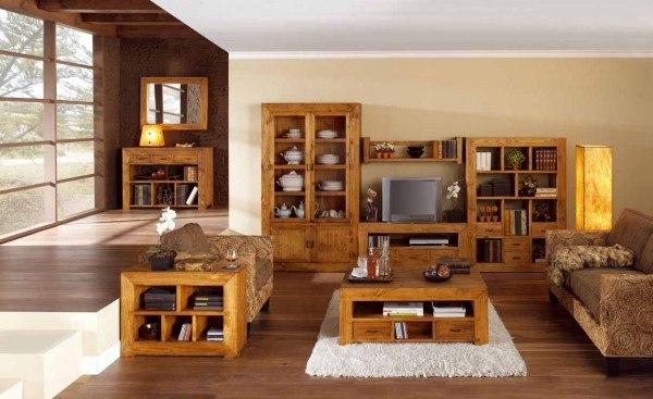 muebles-de-madera-TENDENCIAS-2014-muebles-salon-rustico
