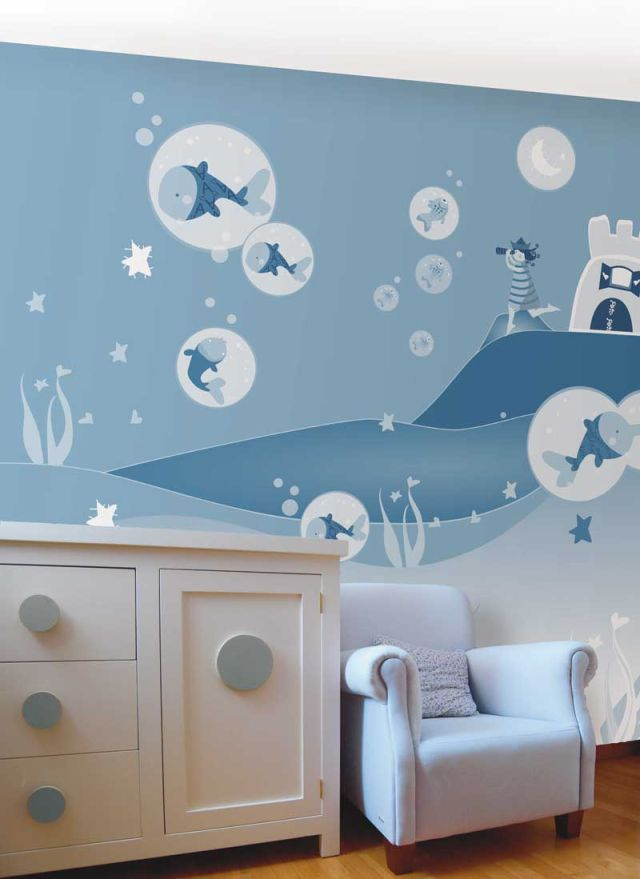Decoracion Infantil Pared ~ papeles infantiles5