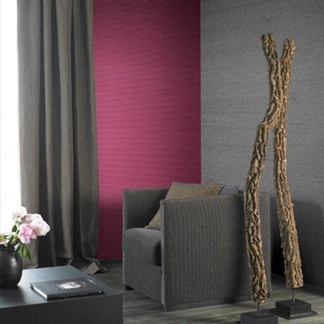 Tela tensada para decorar paredes for Cortinas para paredes grises