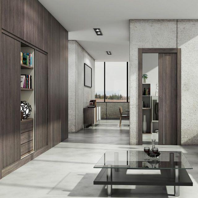 Puertas correderas para ahorrar espacio en la casa for Armazon puerta corredera