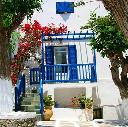 Estilo griego decoracion - Colores para fachadas rusticas ...