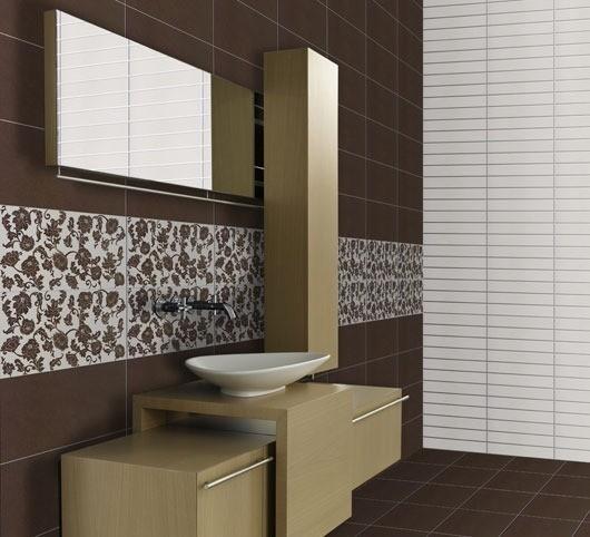 Ideas Para Decorar Baños Con Azulejos:Cenefas para el baño – EspacioHogarcom