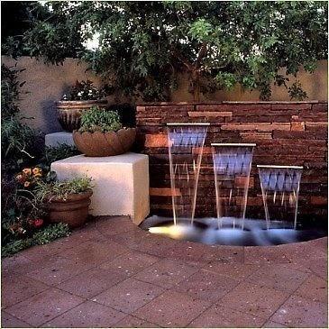 Fuentes de jard n - Estanque terraza piso ...