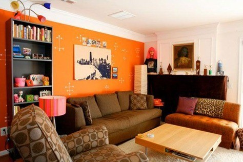 orange-living-room-design