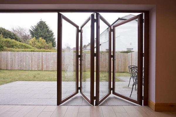 puerta plegable jardin