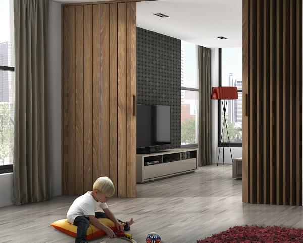 puerta plegable madera