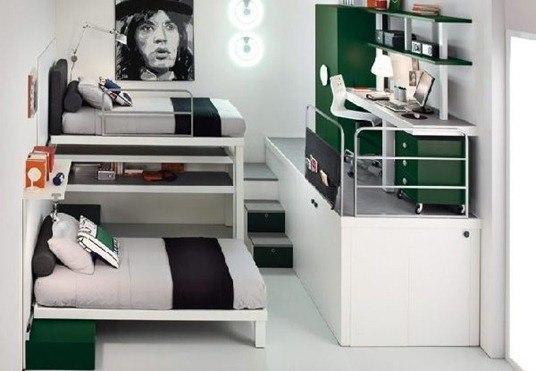 Dormitorios con escritorio - Escritorios para habitaciones pequenas ...