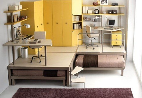 yellow-double-bed-for-kids-bedroom-Tiramolla-by-Tumidei