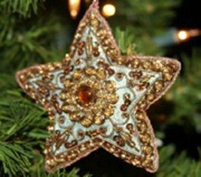 De 50 ideas de estrellas de navidad y c mo hacerlas - Estrella para arbol de navidad ...