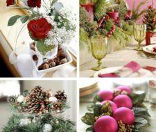 Adornos mesa navideña