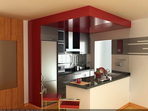 M s de 100 fotos de ideas para la cocina americana 2019 for Cocinas modernas para apartamentos