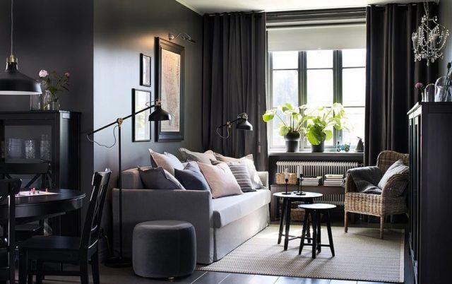 20 fotos de decoraci n de pisos peque os 2018 coge ideas - Salon pequeno ikea ...