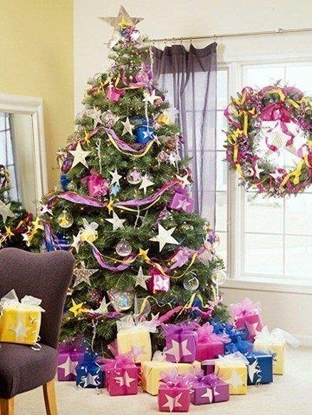 Colores en la decoración de Arboles de Navidad 2015 colores