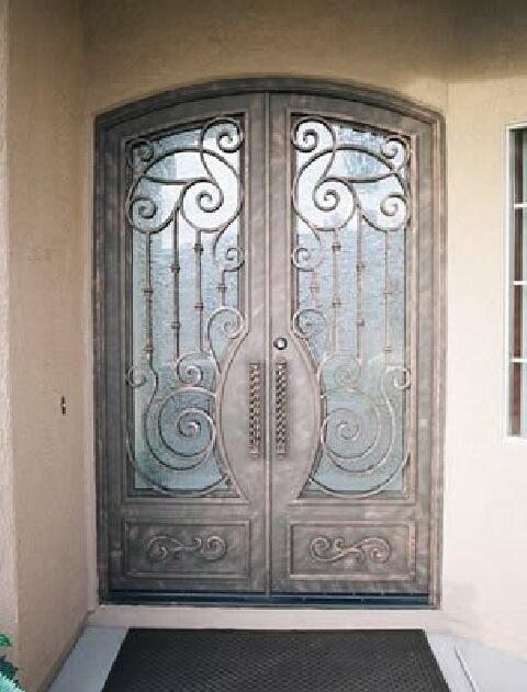 fotos puertas frente madera hierro forjado capital federal