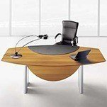 Tazio Aniegre Executive Wood Desk by Uffix-b