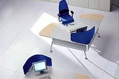 Twister Modern Office Desk by Uffix-b