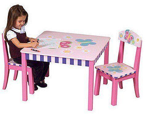 Mesas infantiles for Silla infantil madera
