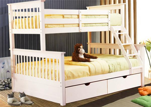 Solid wood kids furniture furniture design ideas for White beds for sale
